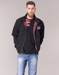 textil Herre Jakker Lonsdale HARRINGTON Sort