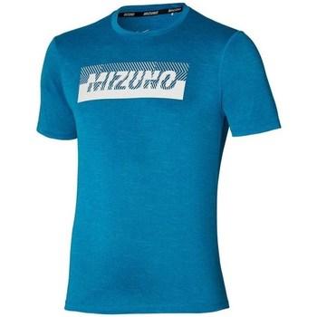 textil Herre T-shirts m. korte ærmer Mizuno Core Graphic Tee Blå