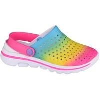 Sko Pige Træsko Skechers GO Walk 5 Play BY Play Blå, Pink