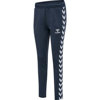 textil Dame Træningsbukser Hummel Pantalon femme  hmlnelly 2.0 tapered bleu foncé