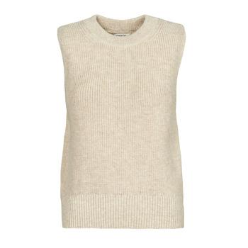 textil Dame Pullovere Only ONLPARIS Beige