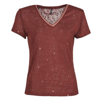 textil Dame T-shirts m. korte ærmer Only ONLSTEPHANIA Bordeaux