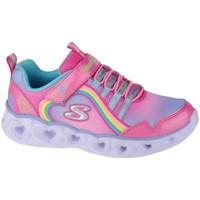 Sko Pige Fitness / Trainer Skechers Heart Lights Rainbow Lux Pink
