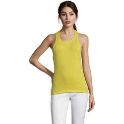 textil Dame Toppe / T-shirts uden ærmer Sols Justin camiseta sin mangas Amarillo