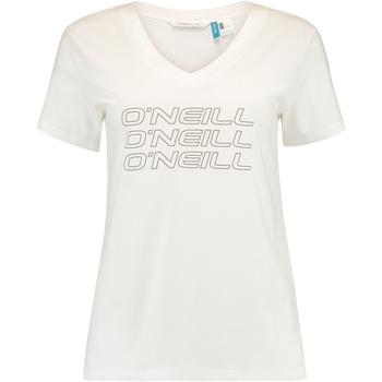 textil Dame T-shirts m. korte ærmer O'neill Triple Stack Hvid