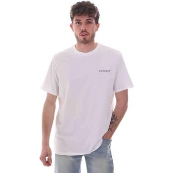 textil Herre T-shirts m. korte ærmer Dockers 27406-0115 hvid