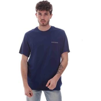textil Herre T-shirts m. korte ærmer Dockers 27406-0116 Blå