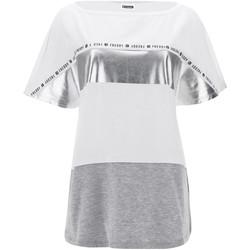 textil Dame T-shirts m. korte ærmer Freddy S1WSDT2M hvid