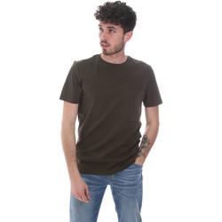 textil Herre T-shirts m. korte ærmer Antony Morato MMKS02023 FA100229 Grøn