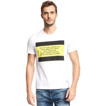 textil Herre T-shirts m. korte ærmer Gaudi 111GU64071 hvid