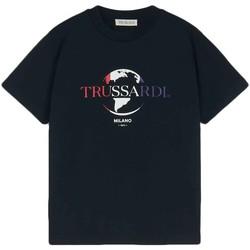 textil Herre T-shirts m. korte ærmer Trussardi 52T00443-1T005227 Sort