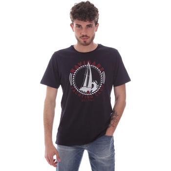 textil Herre T-shirts m. korte ærmer Navigare NV31113 Blå