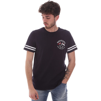 textil Herre T-shirts m. korte ærmer Navigare NV31123 Blå