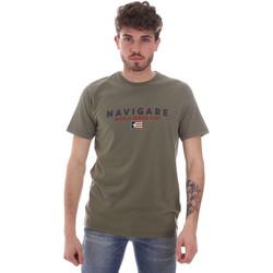 textil Herre T-shirts m. korte ærmer Navigare NV31139 Grøn
