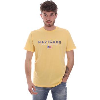 textil Herre T-shirts m. korte ærmer Navigare NV31139 Gul
