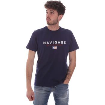 textil Herre T-shirts m. korte ærmer Navigare NV31139 Blå