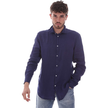 textil Herre Skjorter m. lange ærmer Gaudi 111GU45005 Blå