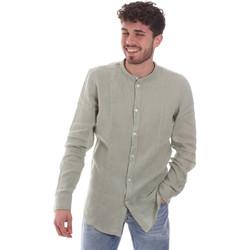 textil Herre Skjorter m. lange ærmer Gaudi 111GU45006 Grøn