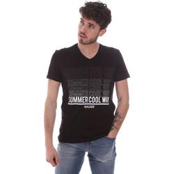 textil Herre T-shirts m. korte ærmer Gaudi 111GU64069 Sort
