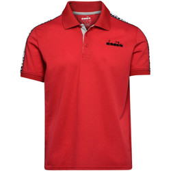 textil Herre Polo-t-shirts m. korte ærmer Diadora 102175672 Rød