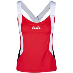 textil Dame Toppe / T-shirts uden ærmer Diadora 102175658 Rød