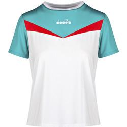 textil Dame T-shirts m. korte ærmer Diadora 102175659 hvid