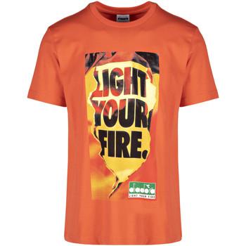 textil Herre T-shirts m. korte ærmer Diadora 502175837 Orange
