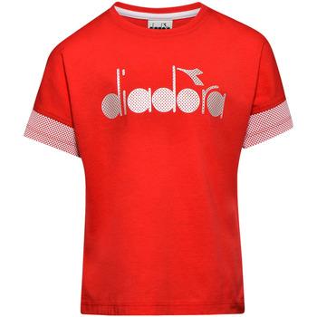 textil Børn T-shirts m. korte ærmer Diadora 102175914 Rød
