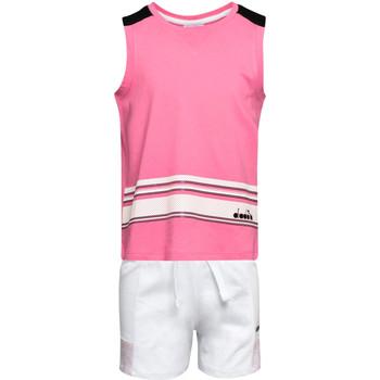 textil Børn Sæt Diadora 102175915 Lyserød