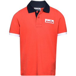 textil Børn Polo-t-shirts m. korte ærmer Diadora 102175907 Rød