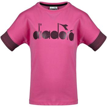 textil Børn T-shirts m. korte ærmer Diadora 102175914 Lyserød