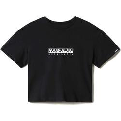 textil Dame T-shirts m. korte ærmer Napapijri NP0A4EYZ Sort
