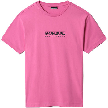 textil T-shirts m. korte ærmer Napapijri NP0A4FF5 Lyserød