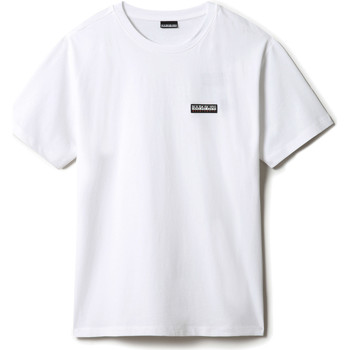 textil T-shirts m. korte ærmer Napapijri NP0A4FG8 hvid