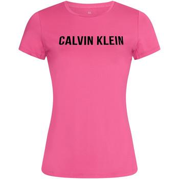 textil Dame T-shirts m. korte ærmer Calvin Klein Jeans 00GWF0K168 Lyserød