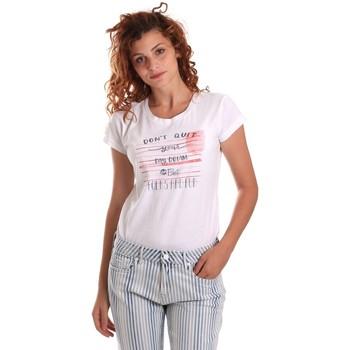 textil Dame T-shirts m. korte ærmer Key Up 5K02S 0001 hvid
