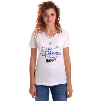 textil Dame T-shirts m. korte ærmer Key Up 5G63S 0001 hvid