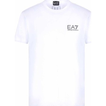 textil Herre T-shirts m. korte ærmer Ea7 Emporio Armani 3KPT06 PJ03Z hvid