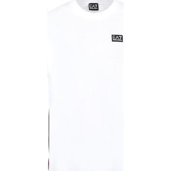 textil Herre T-shirts m. korte ærmer Ea7 Emporio Armani 3KPT13 PJ02Z hvid