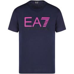 textil Herre T-shirts m. korte ærmer Ea7 Emporio Armani 3KPT78 PJACZ Blå