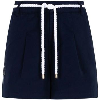 textil Dame Shorts Ea7 Emporio Armani 3KTS54 TN3EZ Blå
