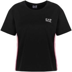 textil Dame T-shirts m. korte ærmer Ea7 Emporio Armani 3KTT21 TJ29Z Sort