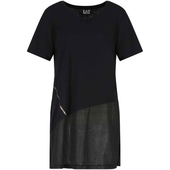 textil Dame T-shirts m. korte ærmer Ea7 Emporio Armani 3KTT36 TJ4PZ Sort