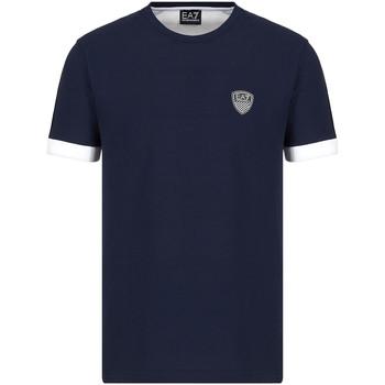 textil Herre T-shirts m. korte ærmer Ea7 Emporio Armani 3KPT56 PJ4MZ Blå