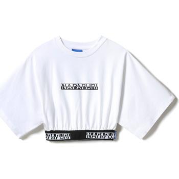 textil Dame T-shirts m. korte ærmer Napapijri NP0A4FCO hvid