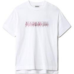 textil Dame T-shirts m. korte ærmer Napapijri NP0A4FAF hvid