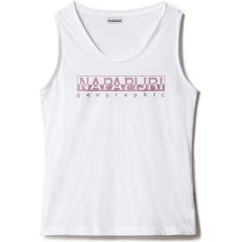 textil Dame Toppe / T-shirts uden ærmer Napapijri NP0A4FAG hvid