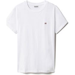 textil Dame T-shirts m. korte ærmer Napapijri NP0A4FAC hvid