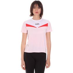 textil Dame T-shirts m. korte ærmer Diadora 102175659 Lyserød