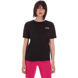 textil Dame T-shirts m. korte ærmer Diadora 102175873 Sort
